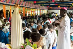 Bishop Unibali leads veneration of Our Lady